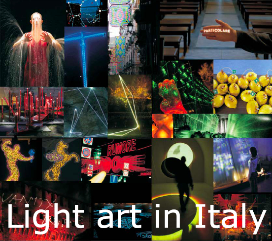 Light art in Italy