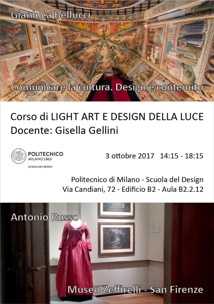 Light Art e Design della Luce | Lezione 3 ottobre 2017 | Gianluca Bellucci, Antonio Russo