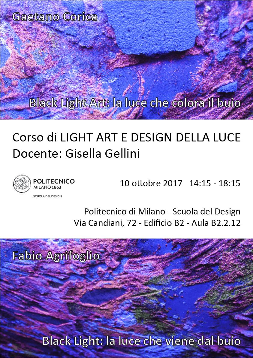 Light Art e Design della Luce | Lezione 10 ottobre 2017 | Gaetano Corica, Fabio Agrifoglio