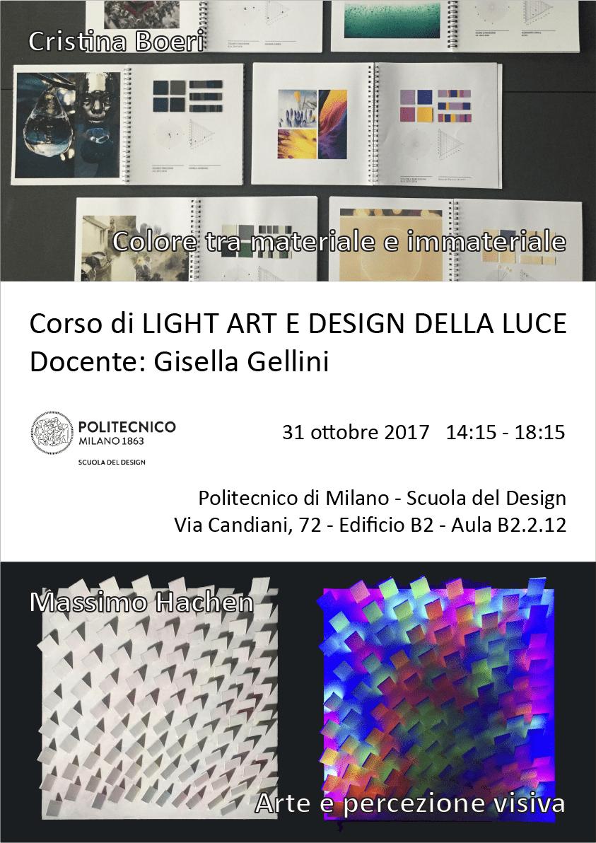 Light Art e Design della Luce | Lezione 31 ottobre 2017 | Cristina Boeri, Massimo Hachen