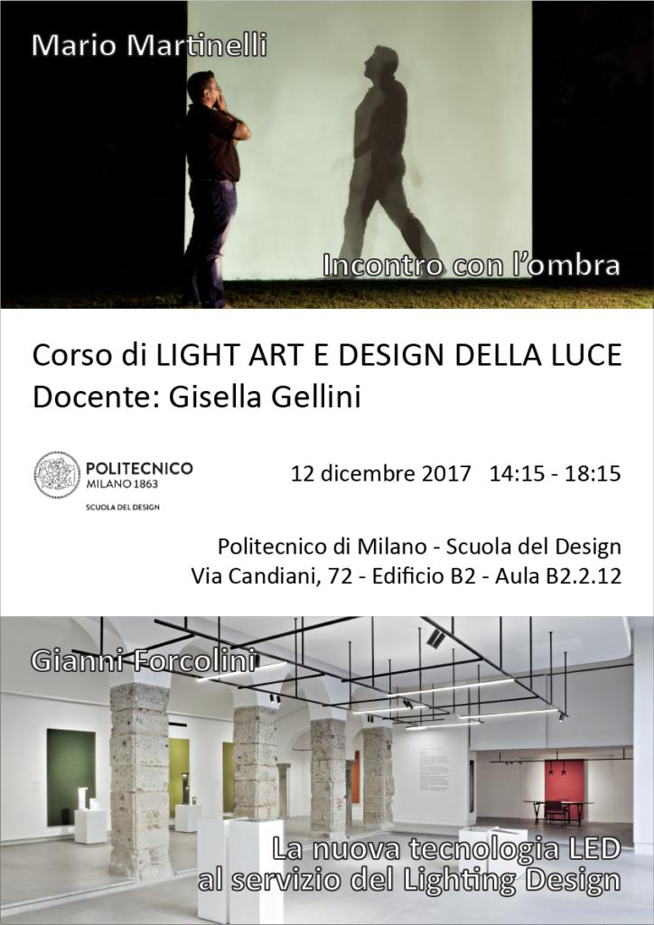 Light Art e Design della Luce | Lezione 12 dicembre 2017 | Gianni Forcolini