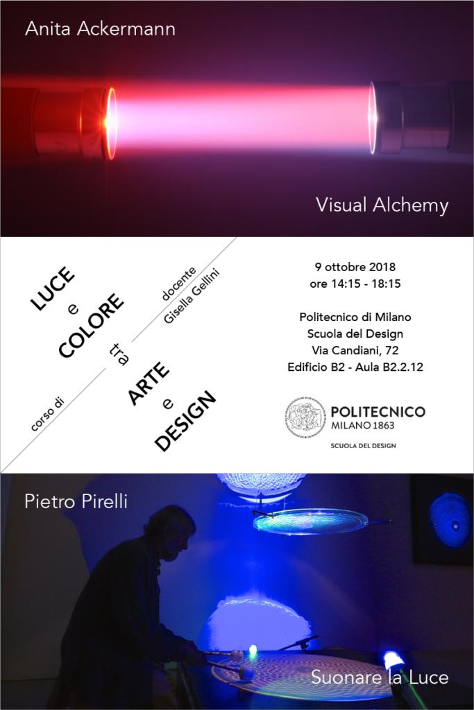Luce e Colore tra Arte e Design | Lezione 9 ottobre 2018 | Anita Ackermann, Pietro Pirelli