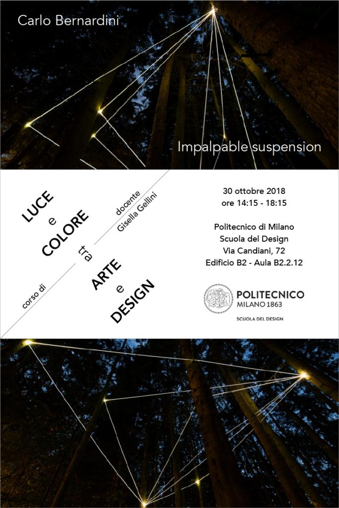 Luce e Colore tra Arte e Design | Lezione 30 ottobre 2018 | Carlo Bernardini