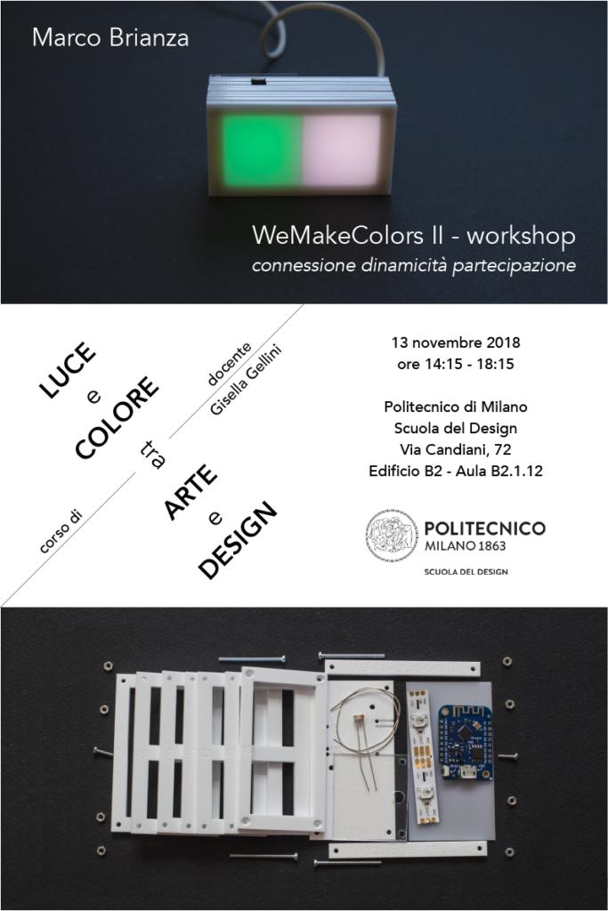 Luce e Colore tra Arte e Design | Lezione 13 novembre 2018 | Marco Brianza