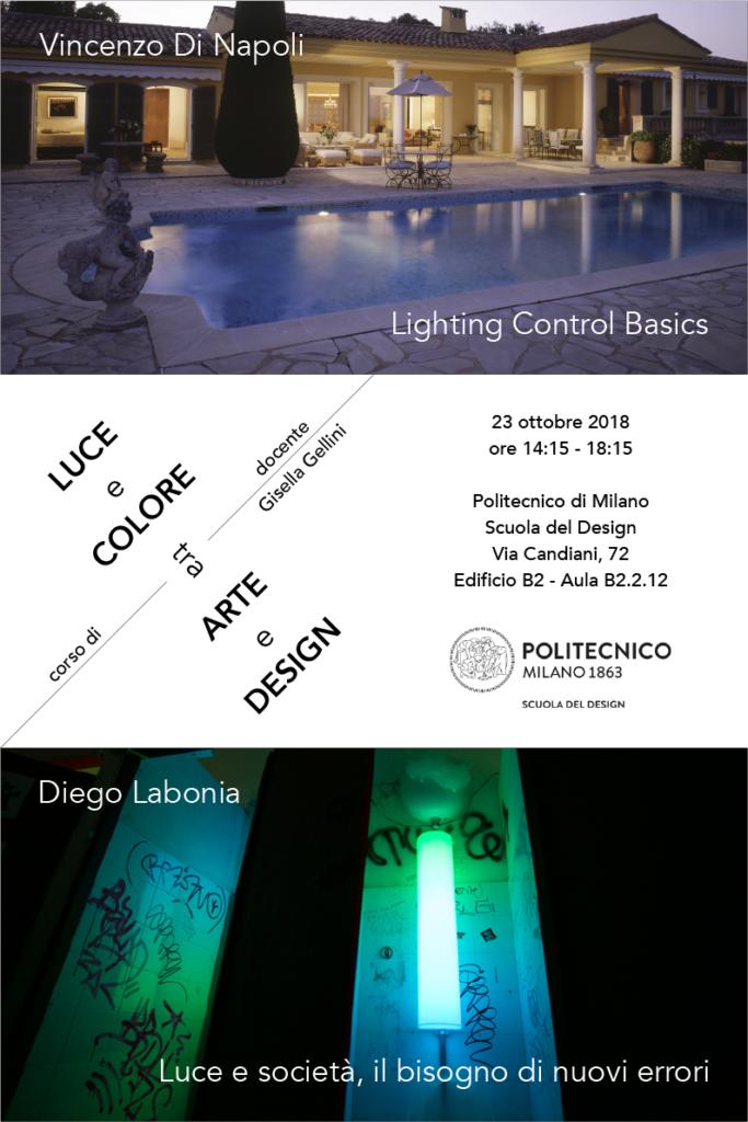 Luce e Colore tra Arte e Design | Lezione 23 ottobre 2018 | Vincenzo Di Napoli, Diego Labonia