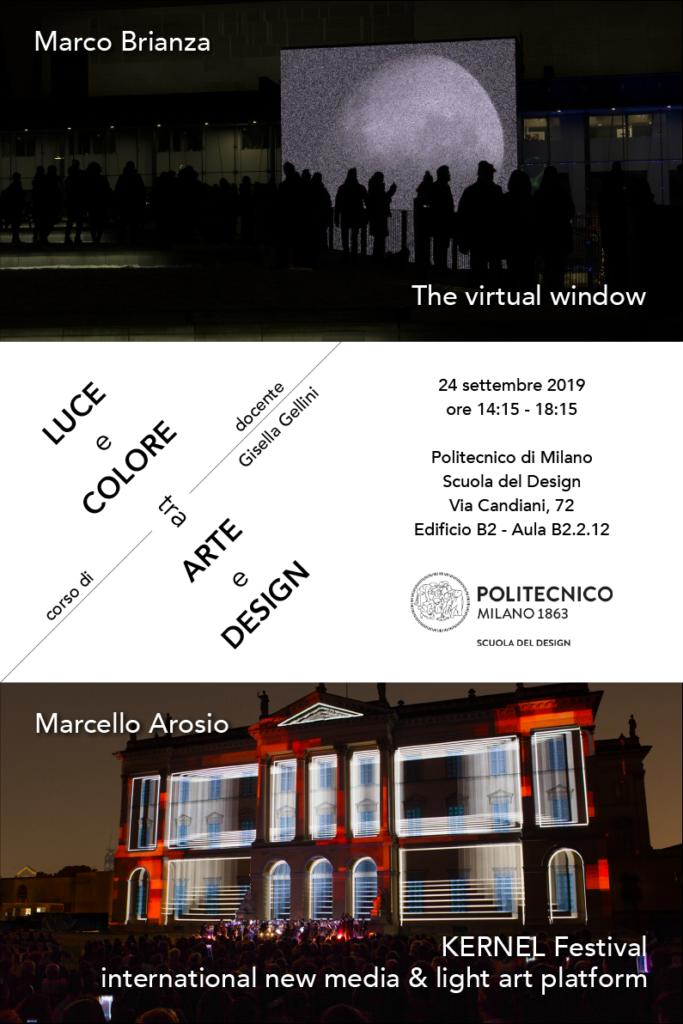 Luce e Colore tra Arte e Design | Lezione 24 settembre 2019 | Marco Brianza, Marcello Arosio