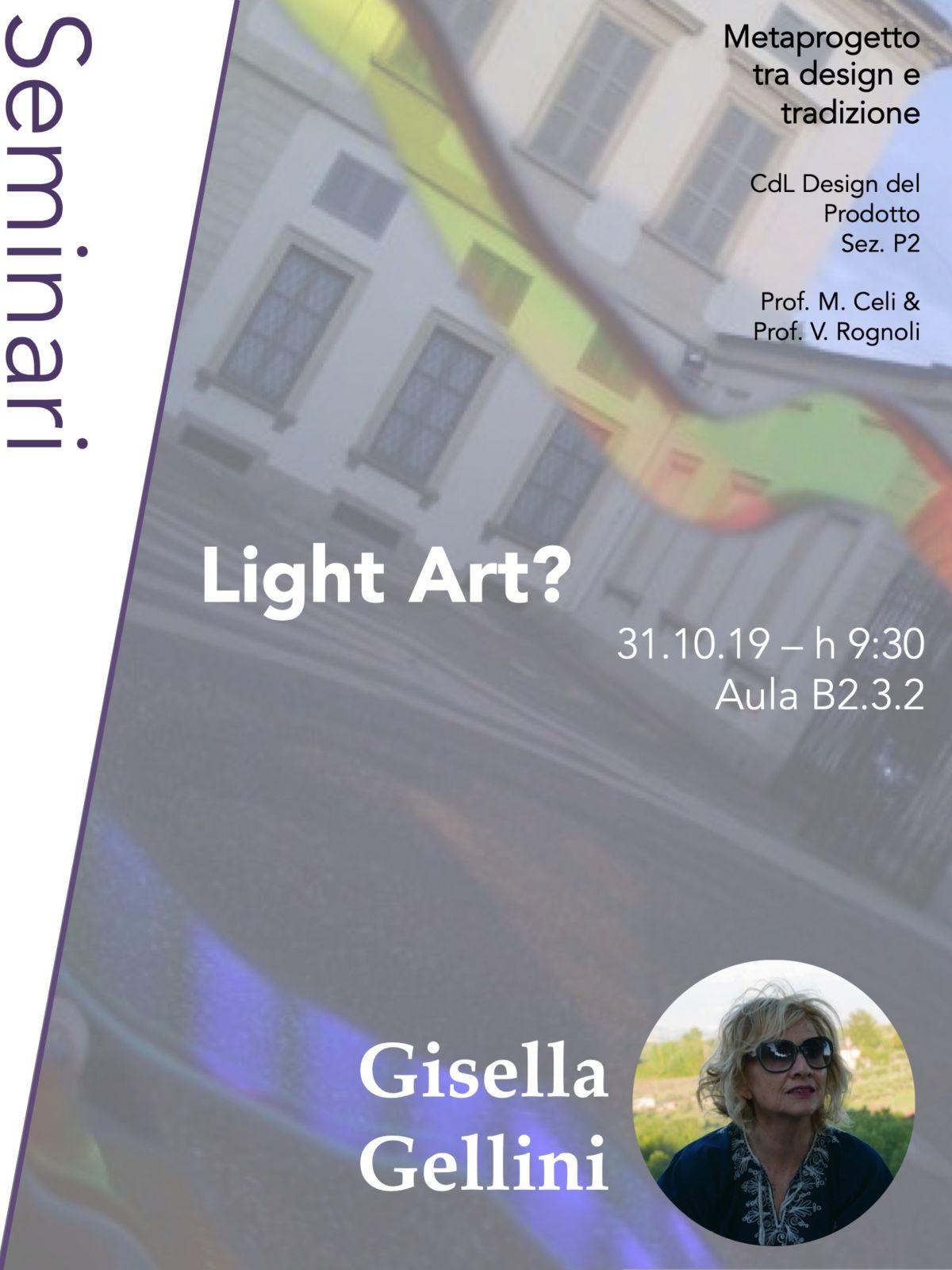 Metaprogetto tra design e tradizione | Lezione 31 ottobre 2019 | Gisella Gellini