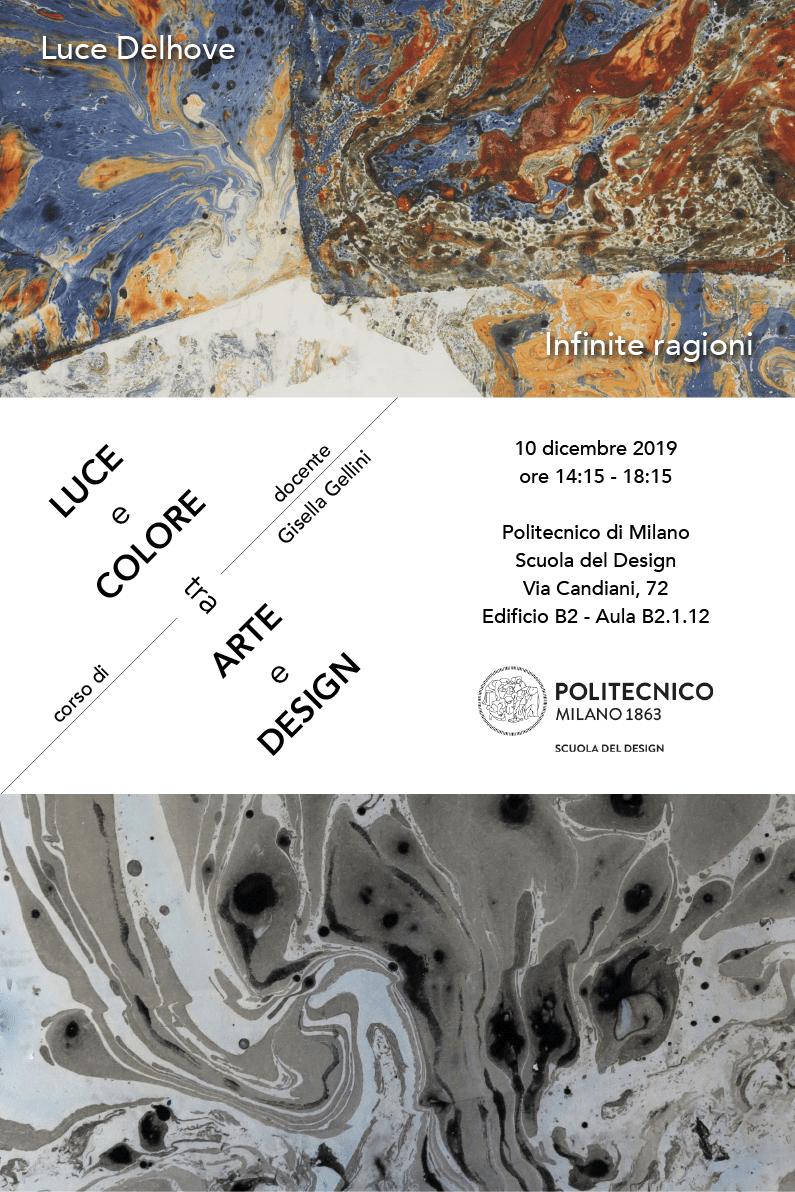 Luce e Colore tra Arte e Design | Lezione 10 dicembre 2019 | Luce Delhove