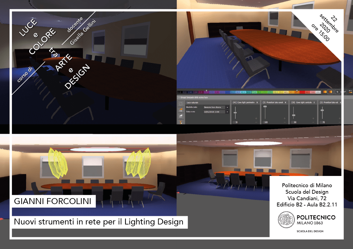 Luce e Colore tra Arte e Design   Lezione 22 settembre 2020   Gianni Forcolini