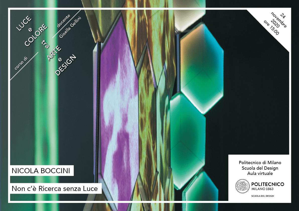 Luce e Colore tra Arte e Design | Lezione 24 novembre 2020 | Nicola Boccini