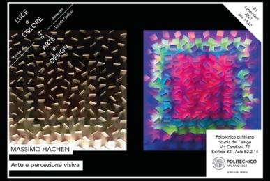 Luce e Colore tra Arte e Design | Lezione 21 settembre 2021 | Massimo Hachen